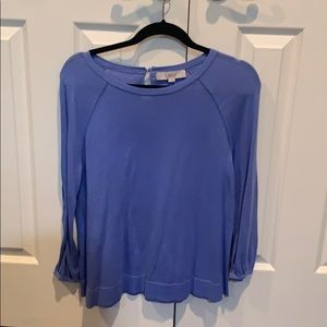 Lavender/light blue lightweight sweater by LOFT